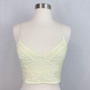 Free people Summer yellow Stretch Lace Bralette